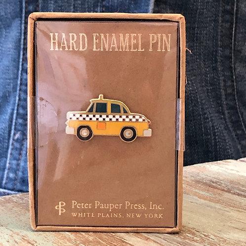 Yellow Cab Enamel Pin