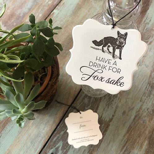 Fox Wine Tags
