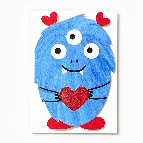Die Cut Love Monster Valentine Card