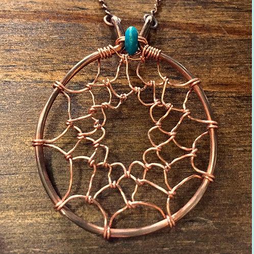 Copper Dreamcatcher Necklace