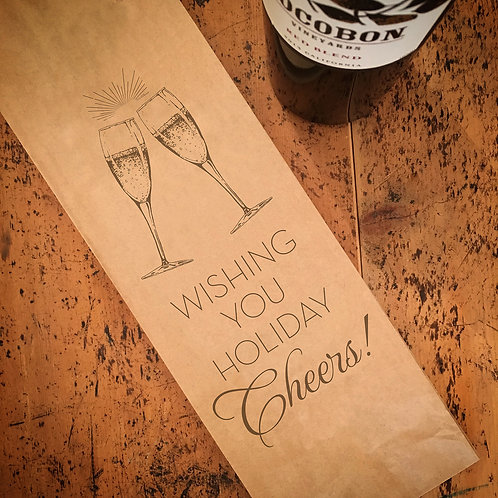Holiday Cheers, Wine Bag