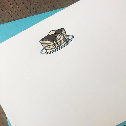 Pancakes Notecard