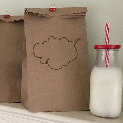 Speech Bubble Lunch Bags