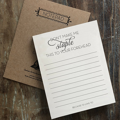Staple Notepad