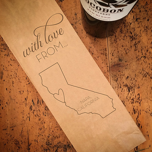 Local With Love From...Wine Bag