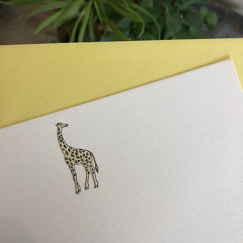 Giraffe Notecard