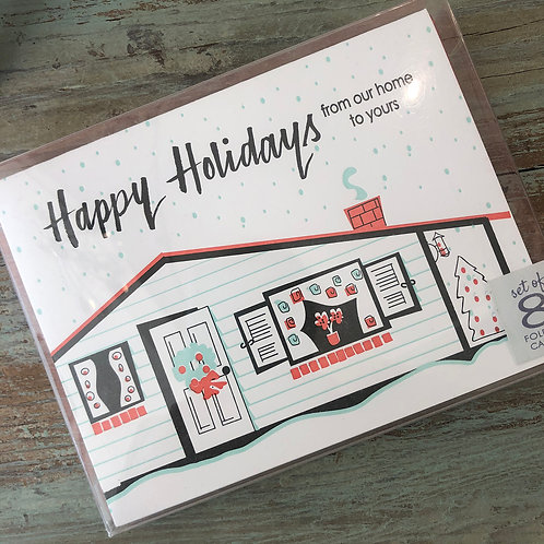 Mid Century Holiday Boxed Cards