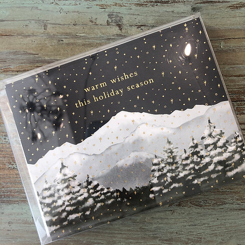 Warm Wishes Mountain Scene Boxed Cards
