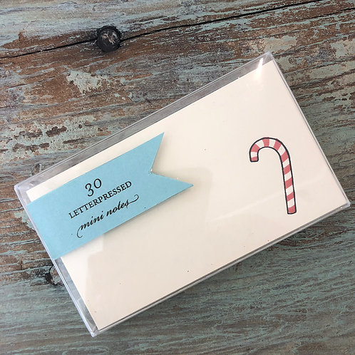 Candy Cane Mini Note