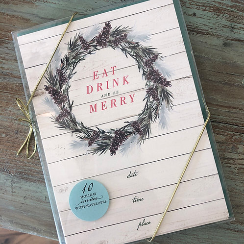 Eat, Drink, Be Merry Fill-In Invite