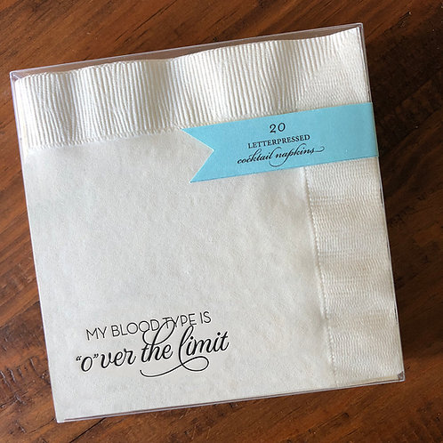 Over The Limit Cocktail Napkins