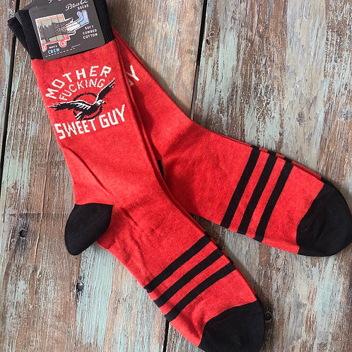 Motherfucking Sweet Guy Men's Crew Socks