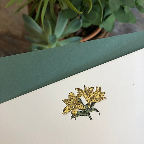 Lillies Notecard