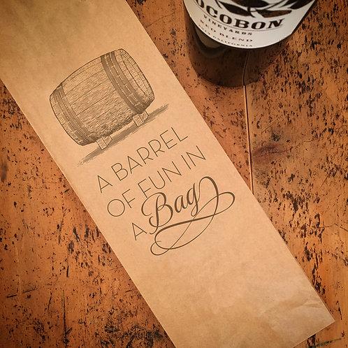 Barrel of Fun Wine Bag