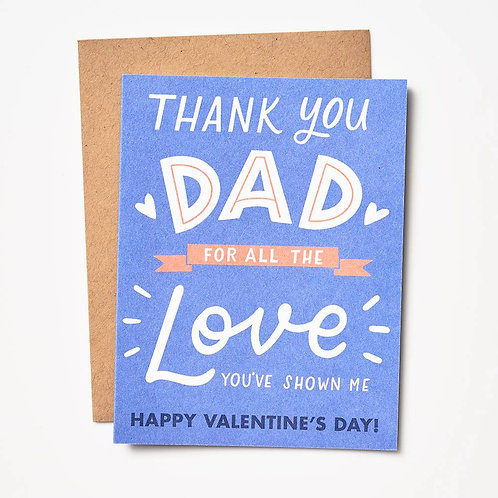 Thank You Dad Valentine Card