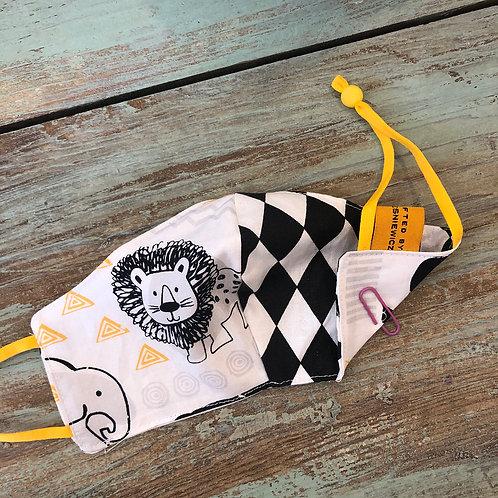 Children's Mask Lion/Elephant/BW Diamonds