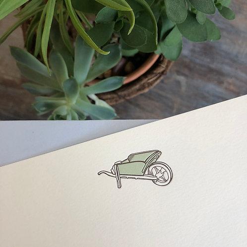 Wheelbarrow Notecard