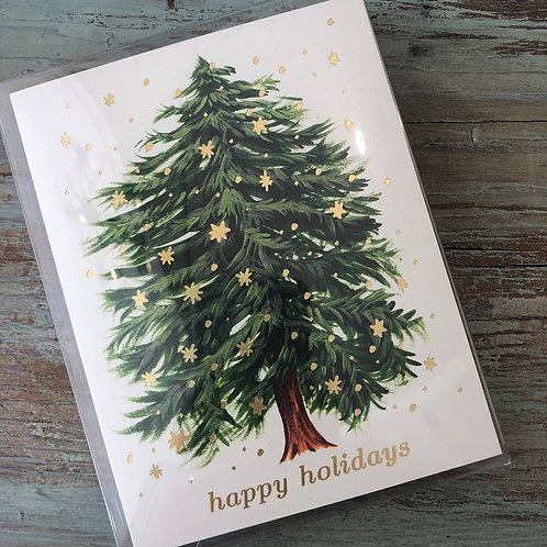 Starry Tree Happy Holidays Boxed Cards