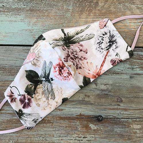 Women's Bridal Mask Silk Dragonfly