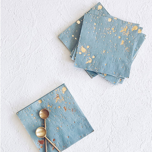 Malibu - Blue Splash Cocktail Paper Napkins