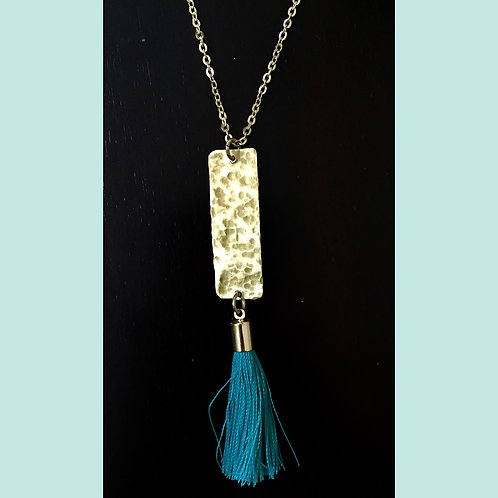 Brass Necklace with Tassel
