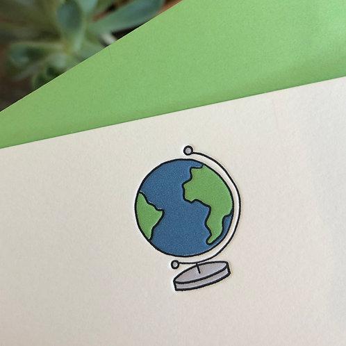 Globe Notecard