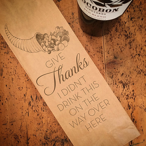 Give Thanks, Wine Bag
