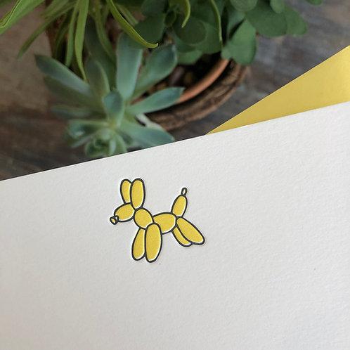 Balloon Dog Notecard