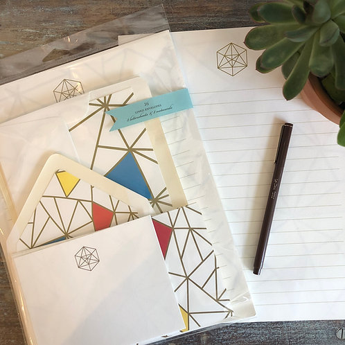 Modern Geometry Stationery Kit