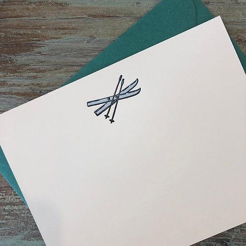 Skis Notecard