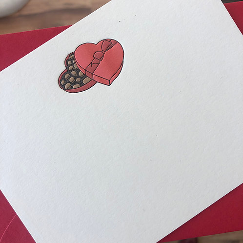 Valentine Chocolates Notecard