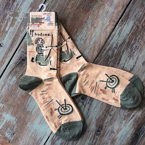 Bad Ass Archer Women's Crew Socks