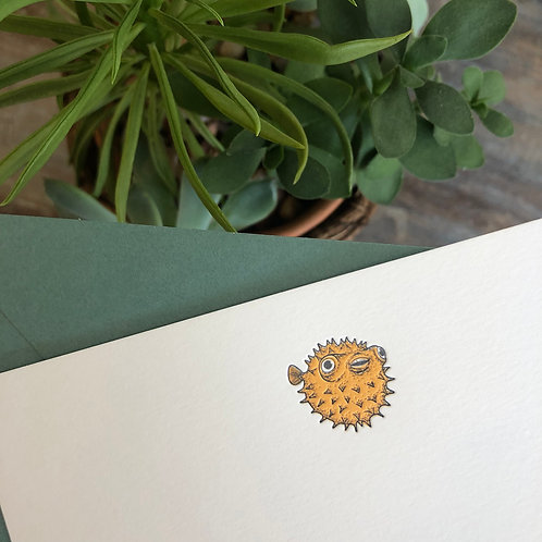 Puffer Fish Notecard