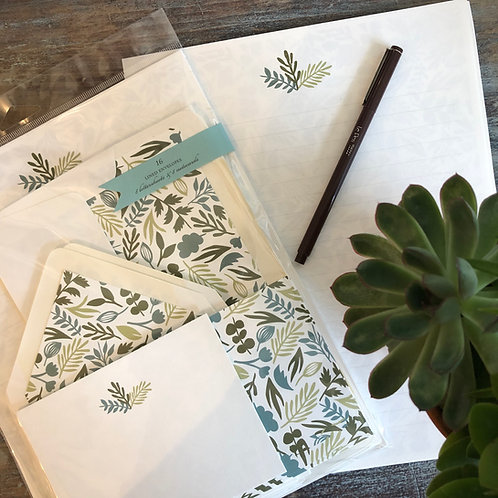 Fern Floral Stationery Kit
