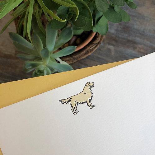 Golden Retriever Notecard