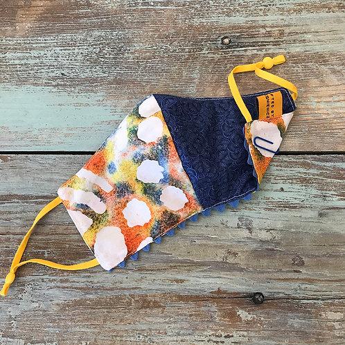 Women's Mask Color Splotch/Blue Swirls/Periwinkle Ric Ric