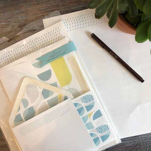 Vintage Geometry Stationery Kit