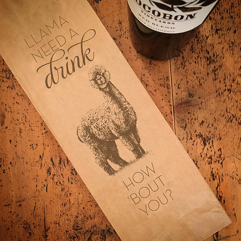 Llama Wine Bag
