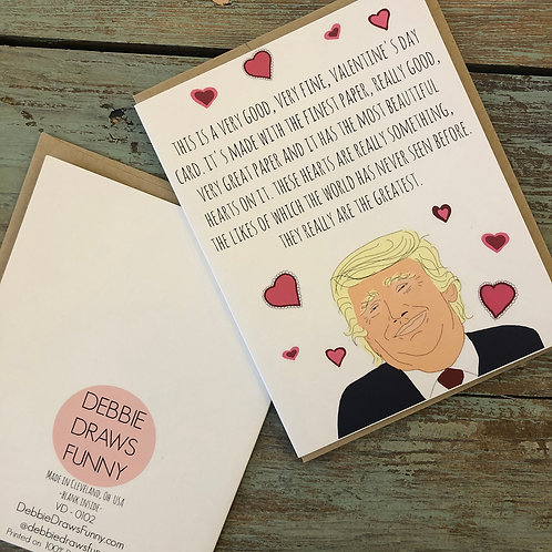 Trump Valentine Card