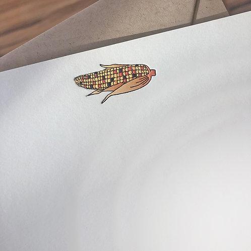 Ornamental Corn Notecard