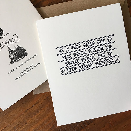 Tree Falls Card