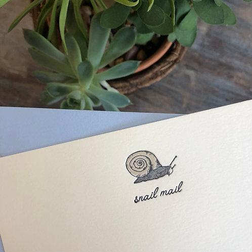 Snail Mail Notecard