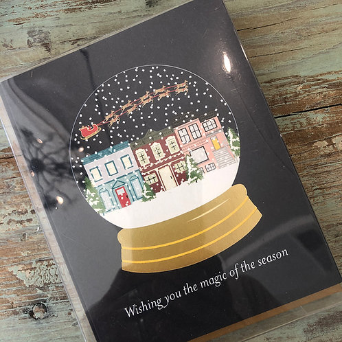 Snow Globe Foil Boxed Cards