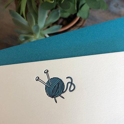 Knitting Notecard
