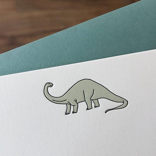 Brontosaurus Notecard