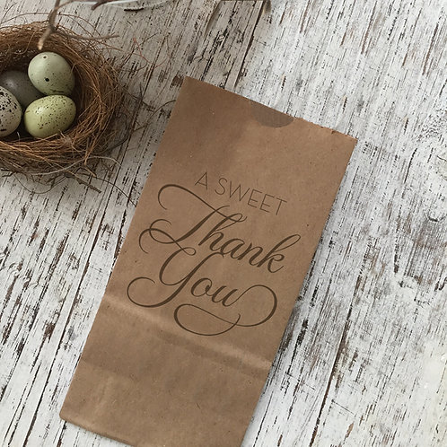 A Sweet Thank You Snack Bag