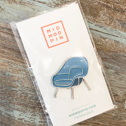 Blue Womb Chair Enamel Pin