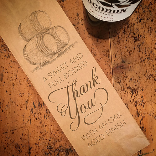 Red Wine Thank You, Wine Bag