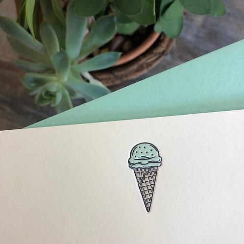 Ice Cream Cone Notecard