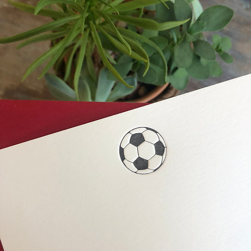 Soccer Notecard